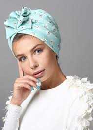 Fan <b>Turban</b> in Turquoise Print | <b>Тюрбан</b>, <b>Повязка тюрбан</b> и Шарфы ...