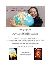 dawn downey s four steps to world peace a book reading kc studio