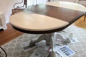 kitchen table sets bo: the top and base took two coats of annie sloan  s old