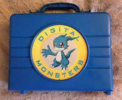 Rare <b>Digimon Digital Monsters Toy</b> Figure Carry Case Blue Veemon ...