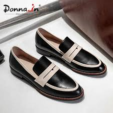 <b>Donna in</b> Women Flats Slip on Loafers Genuine Leather Casual ...
