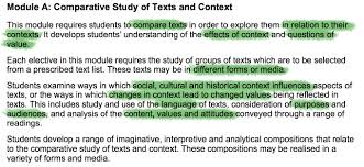 understanding hsc advanced english module a compare texts you ll be looking at the texts together and how they are similar or different make sure to always compare contrast texts when writing your