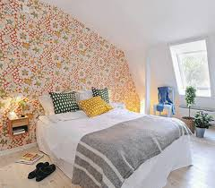 zones bedroom wallpaper: wallpaper for bedroom walls attic bedroom with floral wallpaper