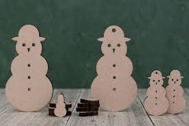 Crafts <b>Snowmen</b> MDF <b>snowman shape</b> blank,wooden <b>christmas</b> ...