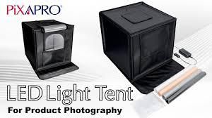 How to assemble PIXAPRO Foldable <b>LED Light</b> Tent - YouTube