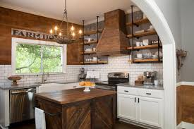 Rustic Farmhouse Kitchens How To Add Fixer Upper Style To Your Home Open Shelving The