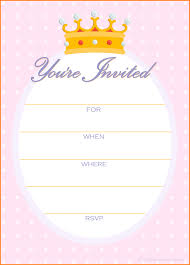 printable invitations templates letter template word printable invitations templates pink princess party invitation png