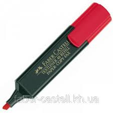 <b>Маркер</b> текстовый <b>Faber</b>-<b>Castell Textliner REFILL</b> 1548 красный ...