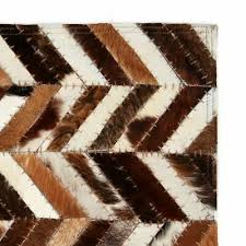 Rugs & Carpets vidaXL <b>Rug Genuine Leather</b> Patchwork Square ...