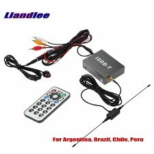 liandlee car digital tv atsc receiver d tv mobile hd turner box suitable for driving usa canada mexico model t1008