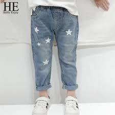 <b>HE Hello Enjoy Toddler</b> Boy Jeans Autumn Print Stars Boy Clothes ...