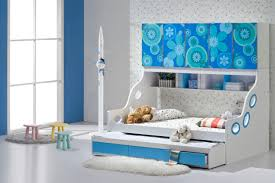 cute blue and white trundle beds for children with twin beds and fun bedding set and bedroom kids bed set