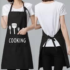 PE Waterproof Kitchen <b>Aprons</b> For Women/Men Cooking <b>Creative</b> ...