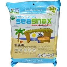 "SeaSnax, ""<b>Classic</b>"" <b>Olive</b>, <b>Roasted Seaweed</b> Snack, Four Pack, 5 ..."