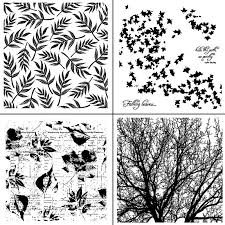 AZSG Leaves/Branch/Dandelion/Flowers Clear Stamps/Seals For ...
