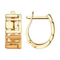 <b>Золотые серьги</b> без вставок — купить в каталоге <b>SOKOLOV</b> по ...