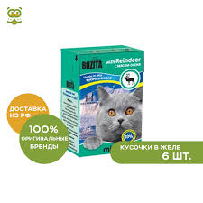 <b>Bozita Mini</b> canned food for cats (<b>pieces</b> in jelly), Venison, 6*190 g ...
