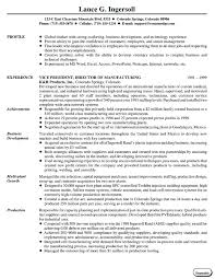 resumes and cover lettersvice president manufacturing
