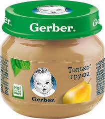 <b>Пюре</b> фруктовое <b>Gerber</b> Только <b>груша</b>, первая ступень, 80 г ...