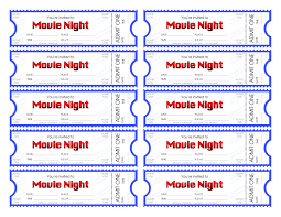 make your own movie night tickets and print our movie ticket template