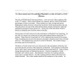 good versus evil essay wwwgxartorgcropped pngto what extent can it be said that macbeth is a tale of good