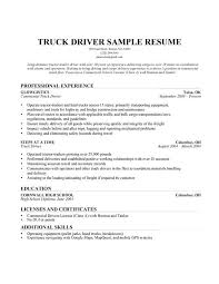 resume career objective truck driver   ais gencook comtruck driver resume sample   resume companion