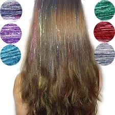 <b>New 1pc Fashion</b> Sexy 8 Colors Hair Tinsel Sparkle Glitter ...