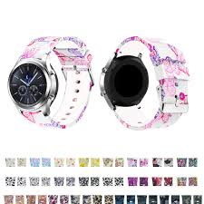 <b>22MM Printing silicone bracelet</b> for Samsung Gear S3 Frontier ...