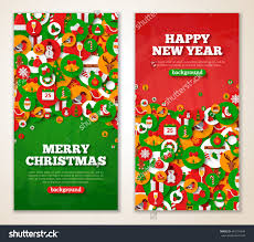 christmas greeting cards flat holiday icons stock vector  christmas greeting cards flat holiday icons in circles vector illustration vertical red and