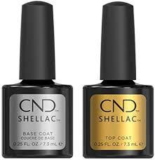 <b>CND Shellac</b> Power Polish Gel <b>UV</b> Base and Top Coat 7.3ml ...
