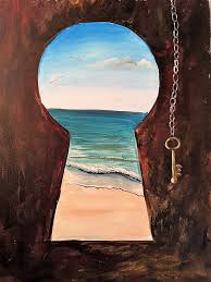 Fall 2017 Lookbook: Key to the Beach Paint Nite painting #artpainting