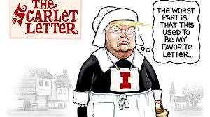Trump wears his favorite scarlet <b>letter</b>, in Steve Sack's latest political ...