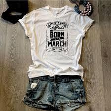 <b>Legends Are Born In</b> March - Unisex V-Neck T-Shirt — Mars Cargo ...