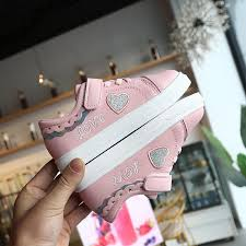<b>Spring</b> and Autumn Children's Sneakers Cute Girls White Shoes ...