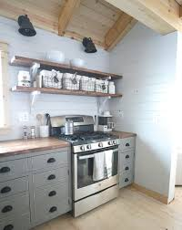 Kitchen Open Shelves Ana White Open Shelves For Our Cabin Kitchen Diy Projects