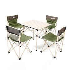 <b>Folding</b> Alloy Stool Hewolf Aluminum piece 5 Set <b>Table Outdoor</b> ...