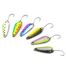 3Pcs/<b>lot</b> 3cm/3g Bait <b>Fishing</b> Metal Spoon Lure Bait For Trout Bass ...