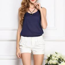 Clothing, Shoes & Accessories <b>Women Chiffon</b> Sleeveless Blouse T ...