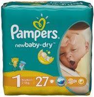 <b>Pampers New</b> Baby-Dry 1 / 27 pcs – купить <b>подгузники</b>, сравнение ...