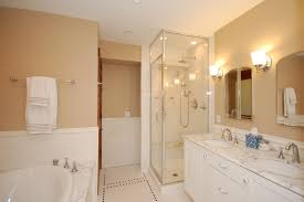 ideas small bathrooms shower sweet: sweet master bathroom design cream painted walls white bathroom furniture glass enclosed shower area large