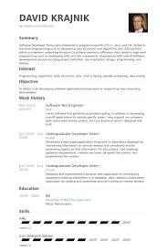 software test engineer resume samples   visualcv resume samples    software test engineer resume samples