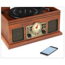 Victrola <b>4-in-1 Nostalgic</b> Bluetooth Record Player with 3-Speed ...