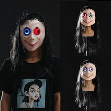 <b>Scary Momo</b> Mask Hacking Game <b>Horror</b> Mask Full Head <b>Momo</b> ...