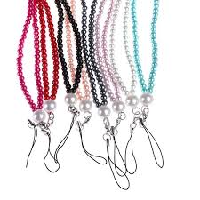 <b>1pcs Universal</b> artificial crystal pearl neck straps <b>lanyard cell phone</b> ...