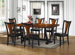 furniture sets black wooden ideas  dining photo of black dining room chairs set compact black dining roo