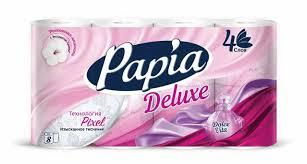 Купить <b>туалетная бумага PAPIA DELUXE</b> Арома Дольче Вита 4 ...