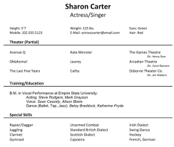 resume example resume format resume format child actress actors audition resume format