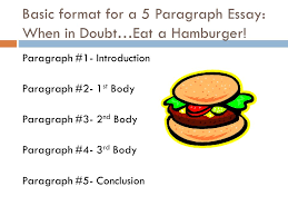 writing    what the what   why is structure so important    basic format for a  paragraph essay  when in doubt…eat a hamburger
