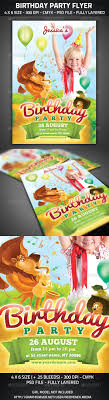 birthday party flyer invitations kids lion party and kid birthday party flyer photoshop psd lion invitation available here →