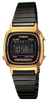 Наручные <b>часы CASIO LA</b>-670WEGB-<b>1B</b> — купить по выгодной ...